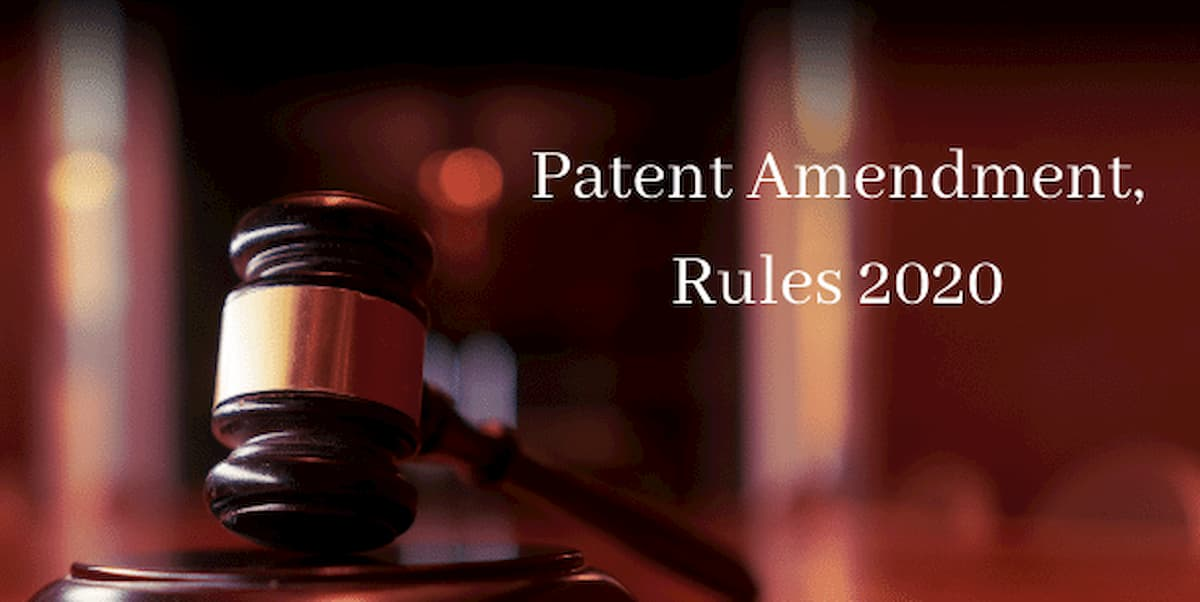 Notification of Patents (2nd Amendment) Rules, 2020